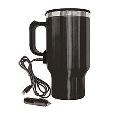 Brentwood CMB-16B Stainless Steel 16oz 12 Volt Heated Travel Mug, Black