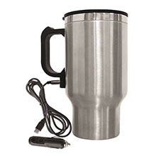 Brentwood CMB-16C Stainless Steel 16oz 12 Volt Heated Travel Mug