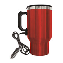 Brentwood CMB-16R Stainless Steel 16oz 12 Volt Heated Travel Mug, Red