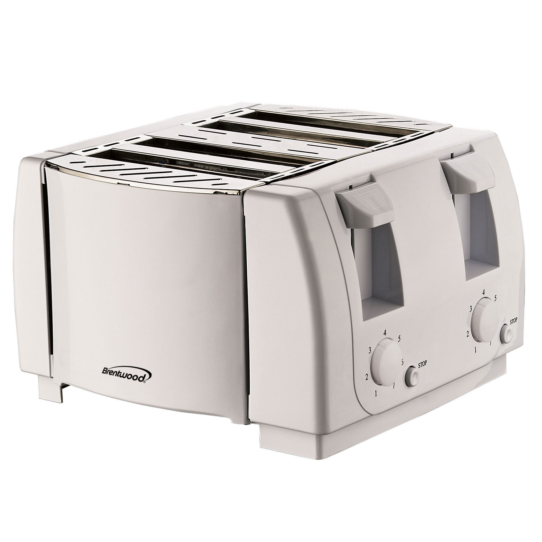 Brentwood TS-265 Cool Touch 4 Slice Toaster, White