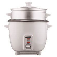 Brentwood TS-180S 8-Cup Rice Cooker and Food Steamer, White