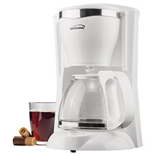 Brentwood TS-216 12 Cup Coffee Maker, White