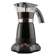Brentwood TS-118BK Electric Moka Pot Espresso Machine, 6-Servings