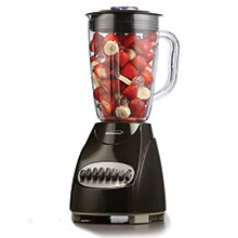 Brentwood JB-220B 12-Speed + Pulse Blender, Black