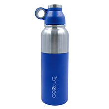 Brentwood GeoJug G-1040BL 40oz Stainless Steel Vacuum Insulated Water Bottle, Blue