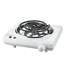 Brentwood TS-320 1000w Single Electric Burner, White