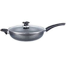 Brentwood BWL-408 12-inch Aluminum Non-Stick Wok with Lid