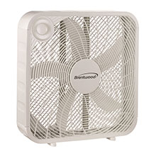 "Brentwood Kool Zone F-20SW 3-Speed 20"" Box Fan, White"