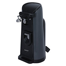 Brentwood J-30B Tall Electric Can Opener with Knife Sharpener & Bottle Opener, Black