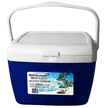 Brentwood Kool Zone CB-1300LS 13.75 Quart Cooler Box with Handle, Blue