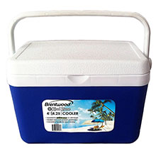 Brentwood Kool Zone CB-400LS 4.2 Quart Cooler Box with Handle, Blue