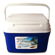 Brentwood Kool Zone CB-450LS 4.75 Quart Cooler Box with Handle, Blue