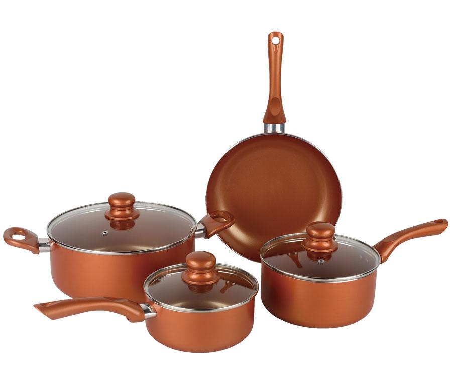 Brentwood Bps 107c 7 Piece Non Stick Copper Cookware Set