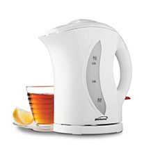 Brentwood KT-1617 BPA Free 1.7L Cordless Electric Kettle, White