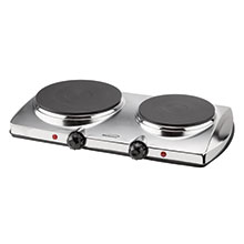 Brentwood TS-372 1440w Electric Double Hot Plate, Silver