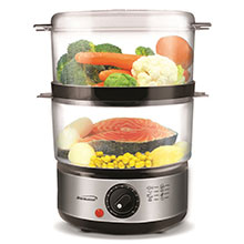 Brentwood TS-1005 2-Tier 5 Quart Electric Food Steamer, Stainless Steel