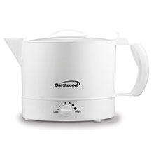 Brentwood KT-32W BPA Free 32oz Electric Kettle Hot Pot, White