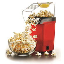 Brentwood PC-486R 8-Cup Hot Air Popcorn Maker, Red