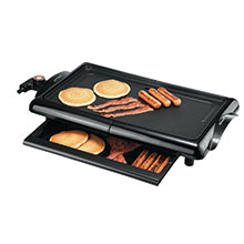 Brentwood TS-840 1400-Watt Non-Stick Electric Griddle with Drip Pan, 10 x 20 Inch, Black