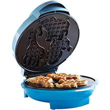 Brentwood TS-253 Non-Stick Animal Shape Waffle Maker Machine, Blue