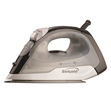 Brentwood MPI-53 Non-Stick Steam Iron, Black