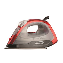 Brentwood MPI-54 Non-Stick Steam Iron, Red
