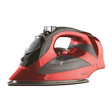 Brentwood MPI-59R Non-Stick Steam Iron with Retractable Cord, Red