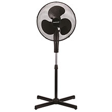"Brentwood Kool Zone F-16SMB 3-Speed 16"" Oscillating Stand Fan, Black"