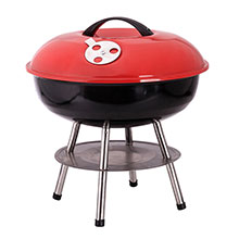 Brentwood BB-1401 14-Inch Portable Charcoal BBQ Grill, Red