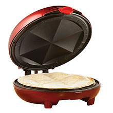 Brentwood TS-120 8-Inch Quesadilla Maker, Red