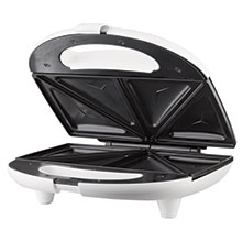 Brentwood TS-240W Non-Stick Compact Dual Sandwich Maker, White