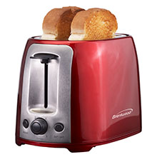 Brentwood TS-292R Cool Touch 2-Slice Extra Wide Slot Toaster, Red