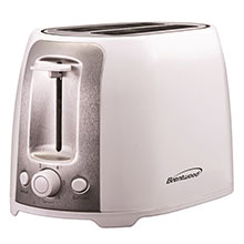 Brentwood TS-292W Cool Touch 2-Slice Extra Wide Slot Toaster, White