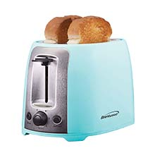 Brentwood TS-292BL Cool Touch 2-Slice Extra Wide Slot Toaster, Blue