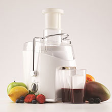 Brentwood JC-452W 2-Speed 400w Juice Extractor with Graduated Jar, White