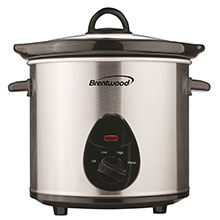 Brentwood SC-130S 3 Quart Slow Cooker, Stainless Steel