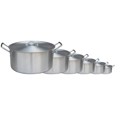 Polished Aluminum 6-Piece Stockpot Set (BAP-6PC)