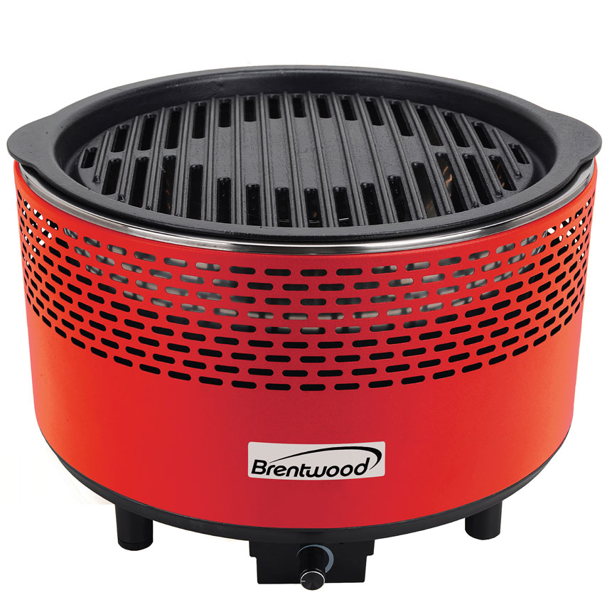 Round Portable Smokeless BBQ - Red