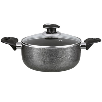 Dutch Oven Aluminum Non-Stick 4 Qt Gray (BP-504)