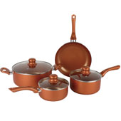 CERAMIC COOKWARE 7-PIECE ALUMINUM NON-STICK COPPER