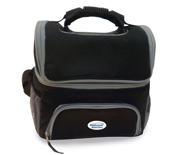 (CB-12BK) 12-Can Cooler Bag w/ Extra Storage