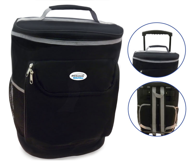 (CB-40BK) Wheeled Cooler Bag - Black