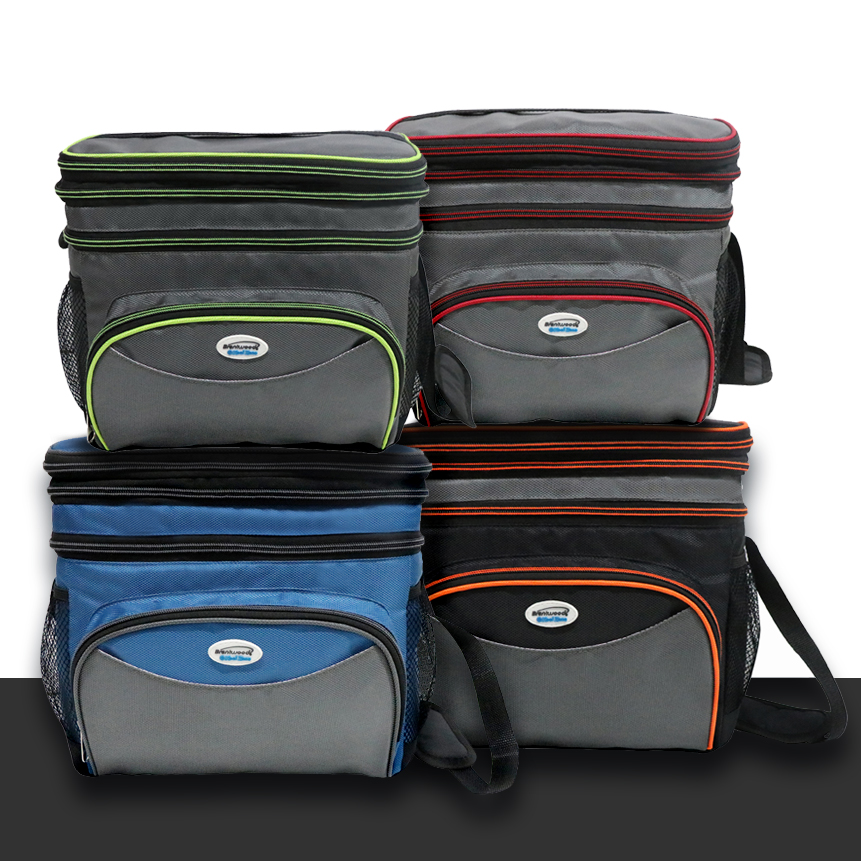 Brentwood Kool Zone CB-1201  Insulated Cooler Bag with Hard Liner, 12-Can