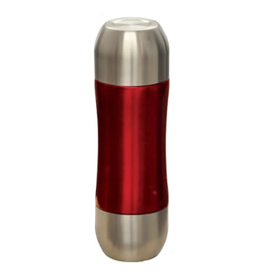 0.35 Liter Vacuum Flask with Stainless Steel Cap in Red (CTS-352R)
