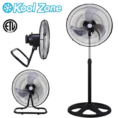 "(F-1831B) 18"" Industrial 3-in-1 Fan - Black Grill"