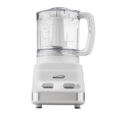 Brentwood FP-546 3 Cup Mini Food Processor, White