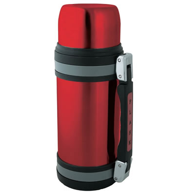 Brentwood FTS-1000R 34oz Vacuum Insulated Stainless Steel Bottle, Red