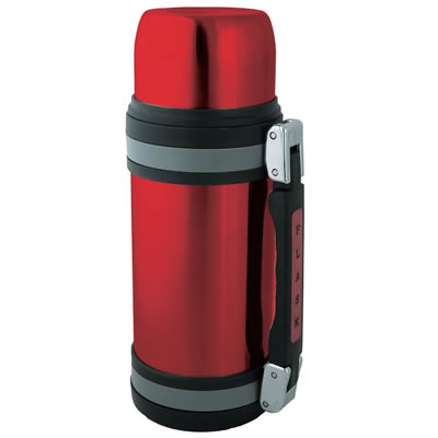 Brentwood FTS-1200R 40oz Vacuum Insulated Stainless Steel Bottle, Red