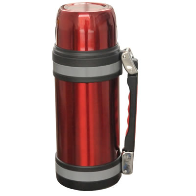 Brentwood FTS-1500R 50oz Vacuum Insulated Stainless Steel Bottle, Red