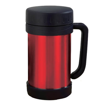 0.5 Liter Vacuum Food Stainless Steel Thermo with Handle in Red (FTS-500R)
